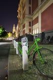 自行车绿色 免版税库存照片