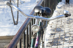 自行车老葡萄酒 免版税图库摄影