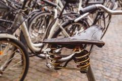 自行车老马鞍 库存照片