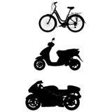 自行车脚踏车马达 免版税库存图片