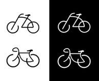 自行车自行车图标 免版税库存照片