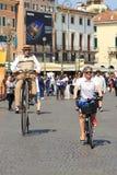 自行车节日在维罗纳 库存照片