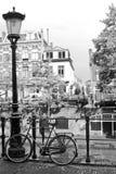 自行车荷兰街道 免版税库存图片