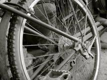 自行车葡萄酒轮子 免版税库存照片