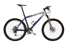 自行车蓝色山 免版税库存照片