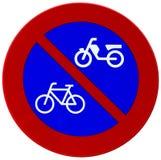 自行车蓝色红色反射器符号 免版税库存图片