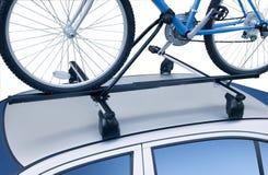 自行车行李架屋顶 免版税图库摄影
