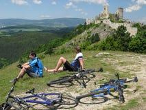 自行车行程 图库摄影