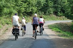 自行车行程 库存照片