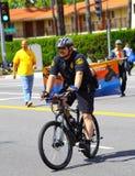自行车警察 免版税库存照片