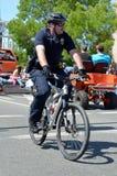 自行车警察 库存图片