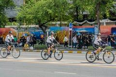 自行车警察 库存照片