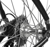 自行车详细资料查出的路 免版税库存照片