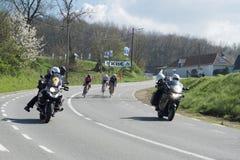 自行车赛在富兰德 库存图片