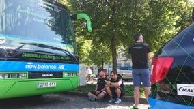 自行车赛游览de Pologne在琴斯托霍瓦市 库存图片