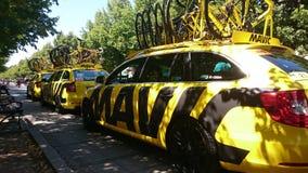 自行车赛游览de Pologne在CzÄ™stochowa市 免版税库存图片