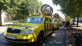 自行车赛游览de Pologne在CzÄ™stochowa市 库存照片