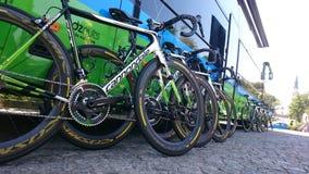 自行车赛游览de Pologne在CzÄ™stochowa市 库存图片