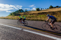 自行车赛纵排人妇女德班经典之作 库存照片