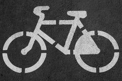 自行车赛车道的标志 图库摄影