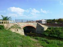 自行车赛车道的桥梁 库存图片