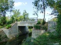 自行车赛车道的桥梁 免版税库存图片