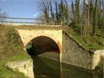 自行车赛车道的桥梁 库存照片