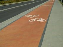 自行车赛车道 免版税库存照片