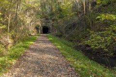 自行车足迹隧道 图库摄影