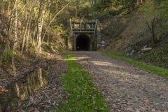 自行车足迹隧道 库存图片