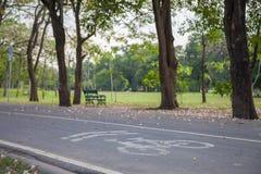 自行车足迹 免版税图库摄影