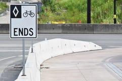 自行车路结束 库存图片