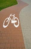 自行车路径路面 免版税图库摄影