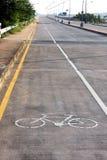 自行车路径 免版税库存照片
