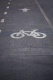 自行车路径 图库摄影