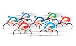 自行车路竟赛者 库存图片