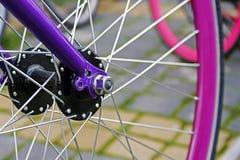 自行车车轮。细节7 免版税库存照片