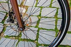 自行车车轮。细节14 库存图片