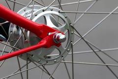 自行车车轮插孔 免版税图库摄影