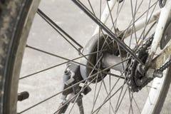自行车车轮轮幅细节 库存图片
