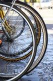 自行车车轮,细节 免版税库存图片