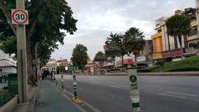 自行车车道在曼谷 免版税库存图片