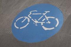 自行车车道标志,维也纳 库存图片