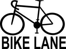 自行车车道标志 免版税库存图片