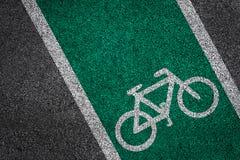 自行车车道沥青纹理 库存图片