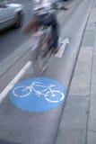 自行车车道的,维也纳骑自行车者 免版税库存图片