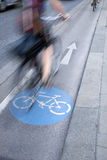 自行车车道的,维也纳骑自行车者 免版税库存照片