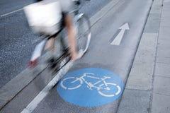 自行车车道的,维也纳骑自行车者 图库摄影