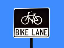 自行车车道 免版税库存照片