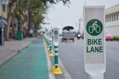 自行车车道 库存照片